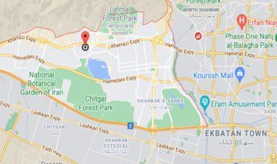 نقشه آینده منطقه 22 تهران
