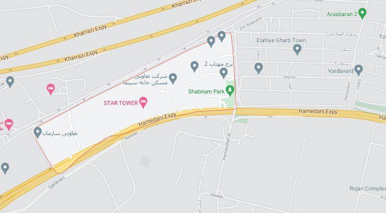 نقشه شهرک مرواریدشهر